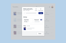 Dropbox Transfer lets you easily send up to 100GB files to anyone