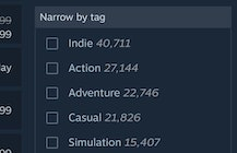 Steam has over 40,000 'indie' games, and this is fine