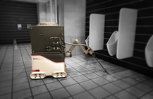 This bathroom cleaning robot is trained in VR to clean up after you | TechCrunch