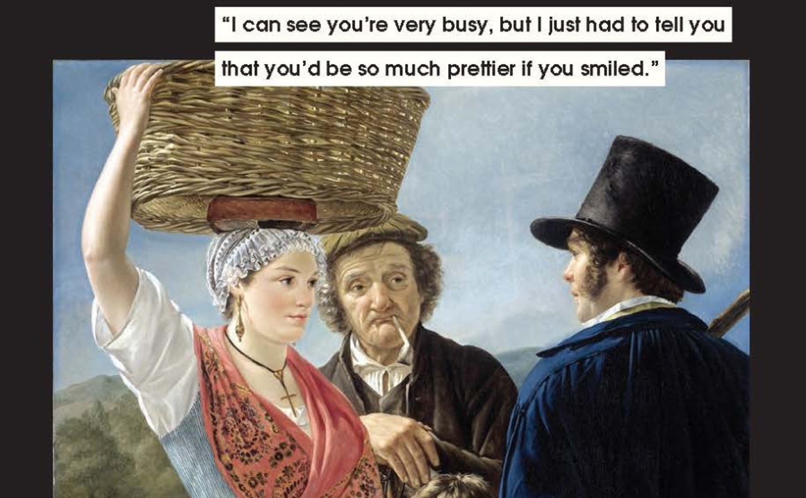 Classic Paintings Provide the Perfect Backdrop for Feminist Memes About Mansplaining