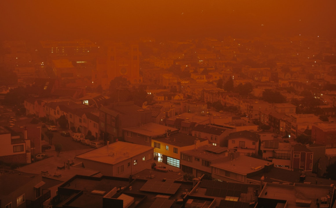 Photographers Capture the Haze and Red Skies of the California Wildfires