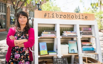 Chicana Writing Avatar Sarah Rafael García Moves Forward with Her Rolling Bookstore