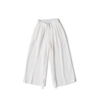 RAW Men Wide-leg Pants White