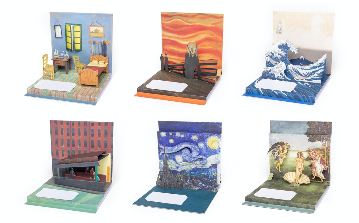 Art-Inspired Pop Up Cards