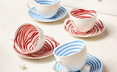"Louise Bourgeois ""Spirals"" Teacup & Saucer"