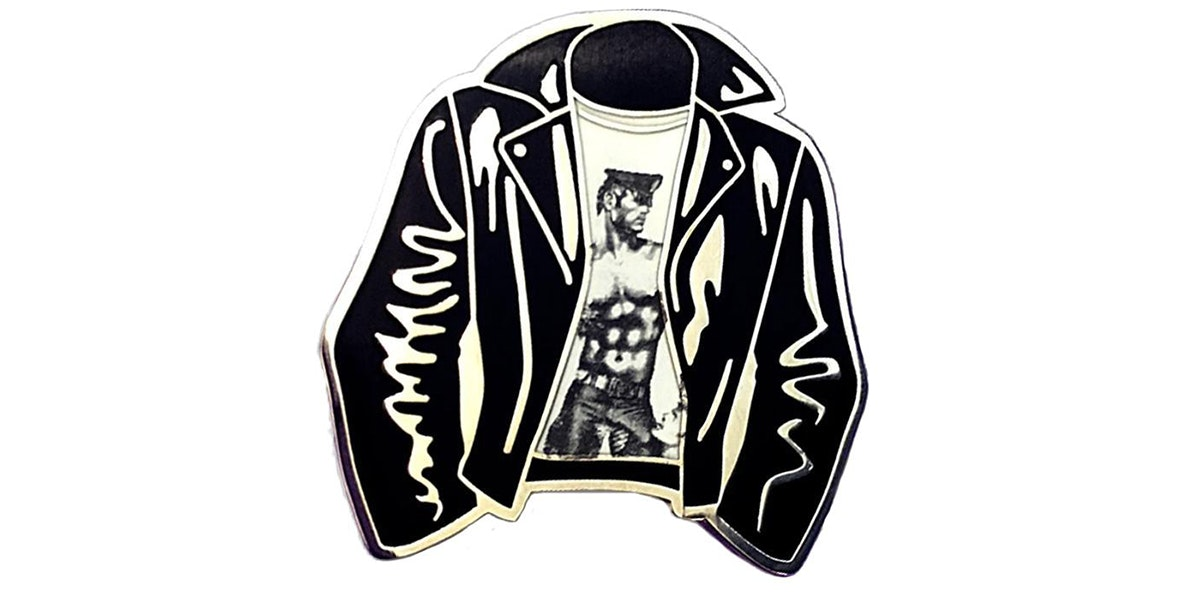 Tom of Finland Leather Jacket Enamel Pin
