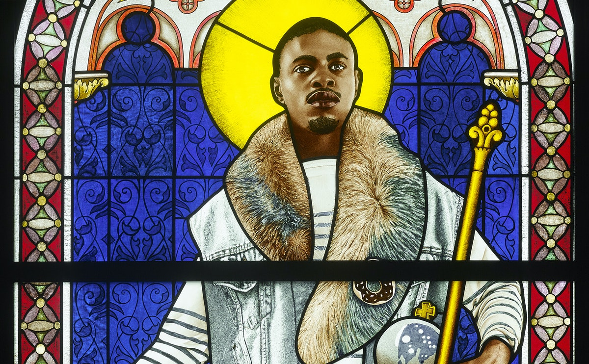 Stained Glass Portrait by Kehinde Wiley Lights Up a UK Cathedral