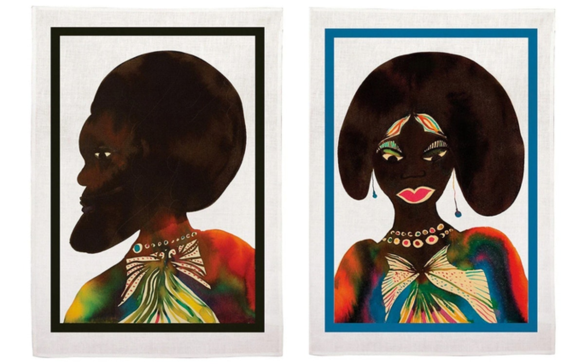 Afromuses Couple Tea Towels